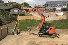 Scarbro Civil Contractors Excavator Drilling