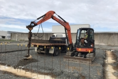 Scarbro Civil Contractors Excavator Post Hole Drilling